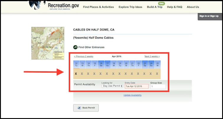 Find Permits for Half Dome Yosemite