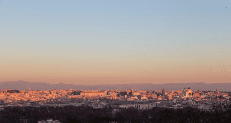 Gianicolo Hill, Rome, Italy Sunset