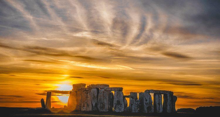 Stonehenge, England Sunset