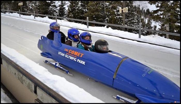 Utah Olympic Bobsled Winter Adventure