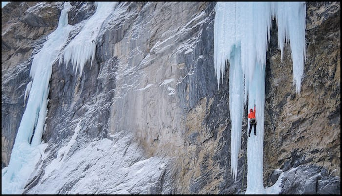 Ice Climbing Rockie