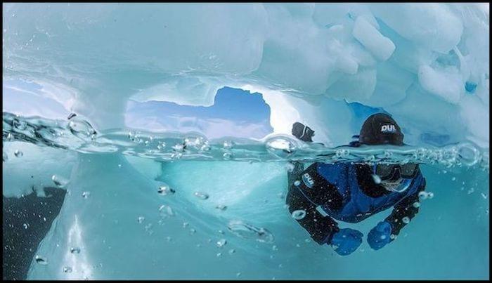 Ice Diving Banniff Canada Winter Adventure