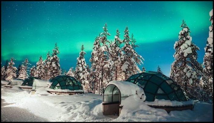 Ice Igloo Northern Lights Winter Adventure