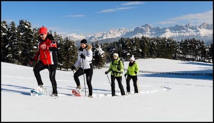 Dolomite Snowshoeing Winter Adventure
