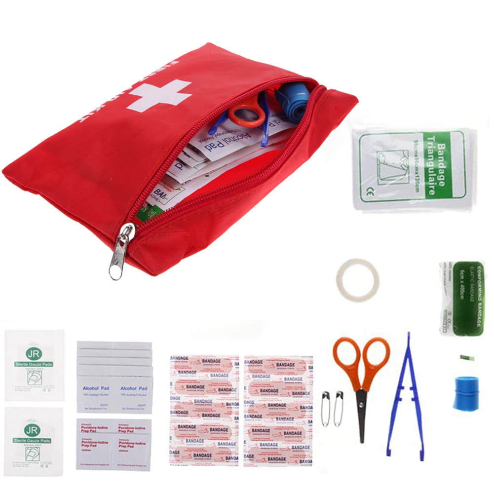 Emergency First Aid Travel Pouch Adventure Hacks