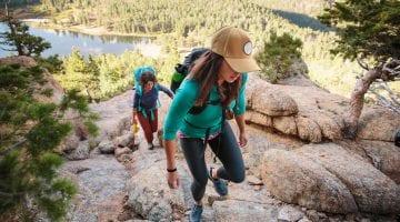 Two Women Hiking In The Sierras with Hiking Gear | AdventureHacks